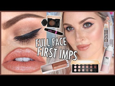 """Full Face FIRST IMPRESSIONS ?? Chit Chat & """"Natural"""" Skin ?"""