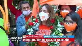 Comunidad Ciudadana inauguró casa de campaña en Cochabamba este domingo