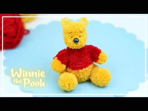 Винни Пух из ниток без вязания. Мастер-класс — Winnie the Pooh of Yarn Tutorial — DIY NataliDoma