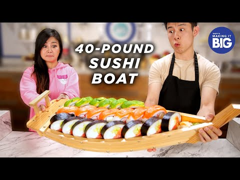 I Made A Giant 40-Pound Sushi Boat For A Mukbang Artist ? Tasty