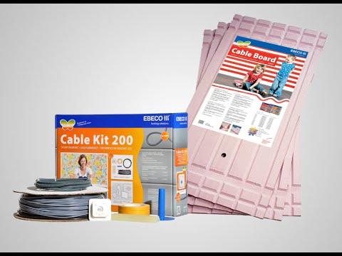 Komplett gulvvarme fra Ebeco - Cable Kit