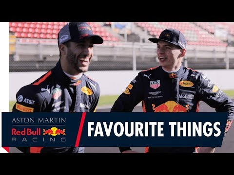 Daniel Ricciardo and Max Verstappen share their favourite things