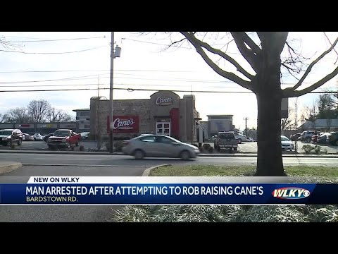 Man arrested after attempting to rob Canes