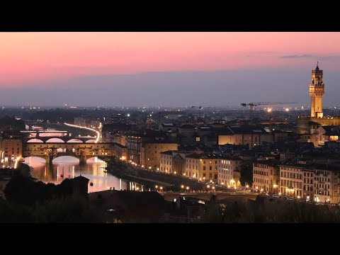 Florence at sunset - View from Piazzale Michelangelo