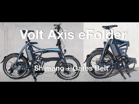 Volt Axis Folding Electric Bike: Shimano + Gates Belt | Electric Bike Report