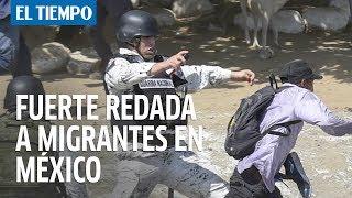 Fuerzas mexicanas detienen a 800 migrantes de la caravana 2020