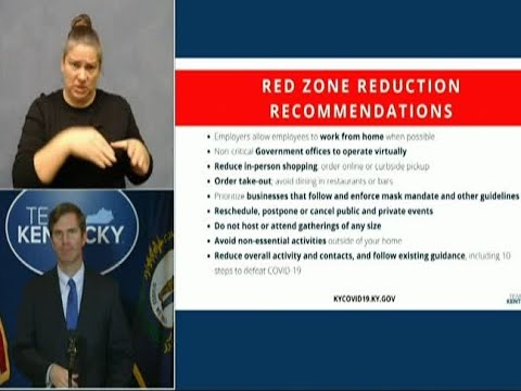 KY governor gives new recommendations for red zone counties