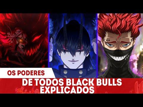 TODOS OS PODERES DOS TOUROS NEGROS EXPLICADOS - BLACK BULLS BLACK CLOVER