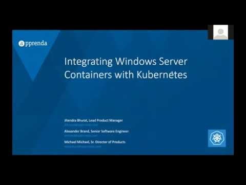 SIG-Windows presents Windows Server Containers with Kubernetes, running on Microsoft Azure