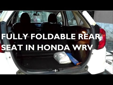 How To Extend Boot Space in Honda WRV By Fully Folding Rear Seat