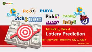 Pick 3 Pick 4 lottery Prediction for Today and Tomorrow July 3, July 4, 2020 | All USA States