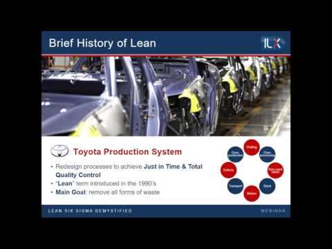 Lean and Six Sigma demystified  a Services perspective - Webinar
