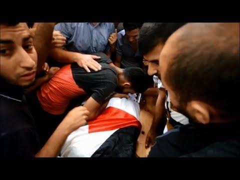 تشييع فلسطيني قتل برصاص الجيش الإسرائيلي قرب حدود شمال قطاع  غزة