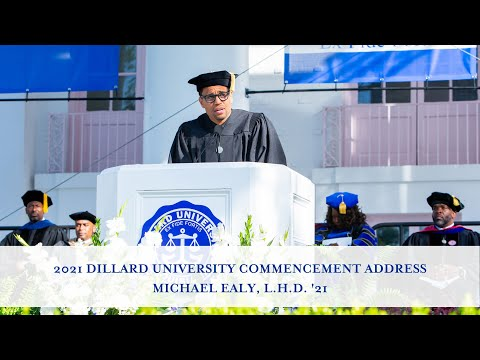 Dillard University 2021 Commencement Address | Michael Ealy