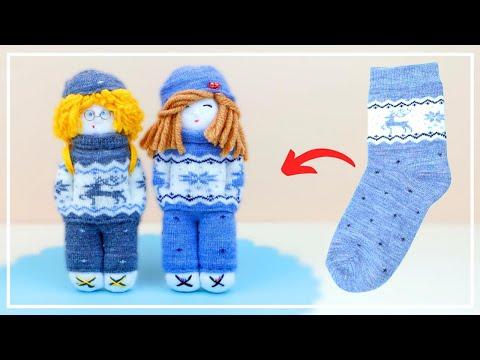 Милая Куколка из Носков Своими руками 🧦 Socks doll making — DIY NataliDoma