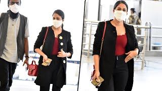 Lavanya Tripathi backslashu0026 Rahul Ramakrishna Exclusive Visuals @ Airport | Celebrities Airport Videos - TFPC