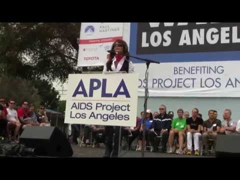 Paula Abdul Speaks at  30th Annual AIDS Walk Los Angeles 2014 Official Ceremony Event in WEHO