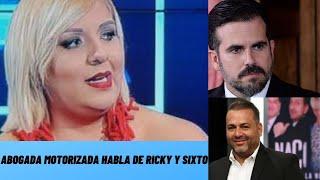 Abogada Motorizada habla de Sixto George y Ricky Rossello