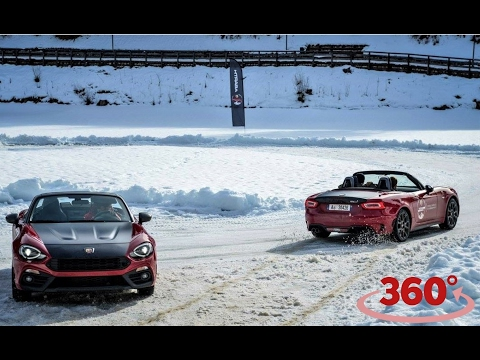 Abarth 124 Spider on Ice [360° Video]