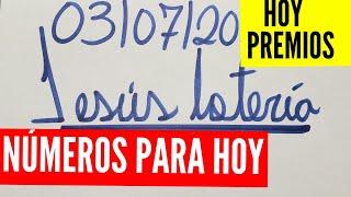 NUMEROS PARA HOY 03/07/2020 DE JULIO PARA TODAS LAS LOTERÍAS