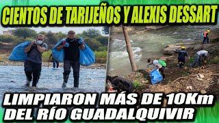 Cientos de Tarijeños y Alexis Dessart limpiaron más de 10 Km del Río Guadalquivir