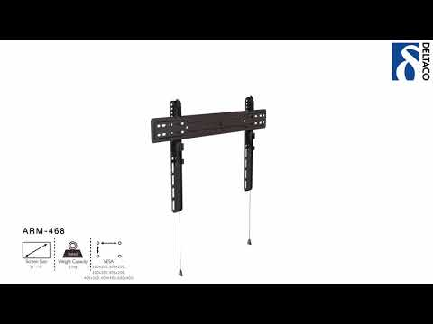 DELTACO Väggfäste för TV/Skärm - Installationsanvisning ARM-468