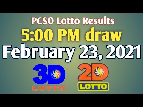 PCSO Lotto Results Today 5pm draw February 23 2021