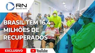 Brasil tem 16.483.635 recuperados do coronavírus e 1.179.137 em acompanhamento