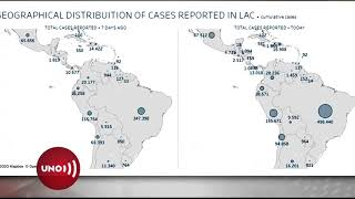 En el continente, Colombia ocupa sexto lugar en número de contagios de Covid-19