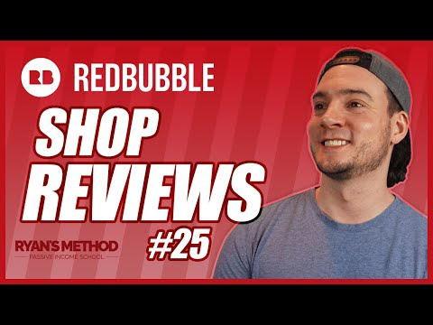 Redbubble Shop Reviews #24 | Increase Your Print on Demand Sales
