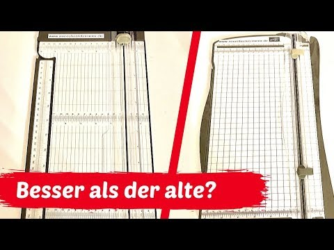 Der neue Papierschneider 2019-- besser als der alte??---Test