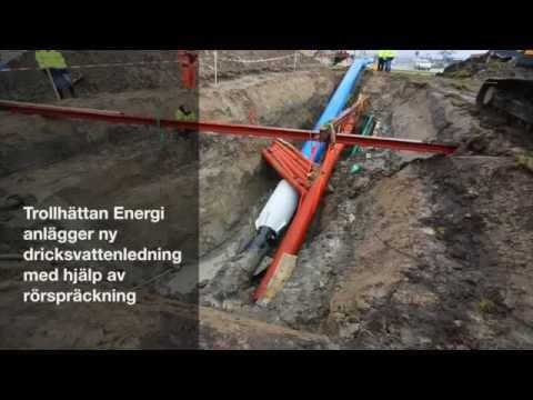Trollhättan Energi byter vattenledning