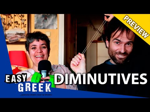 How to form dimunitives in Greek (PREVIEW) | Super Easy Greek 24 photo