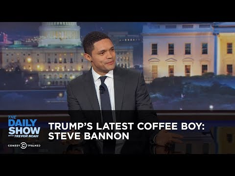 connectYoutube - Between the Scenes - Trump's Latest Coffee Boy: Steve Bannon: The Daily Show