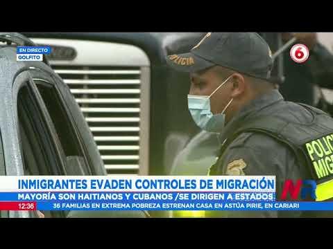 Inmigrantes evaden controles de migración para atravesar el país