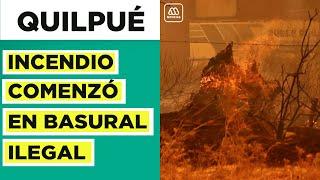 Valparaíso   En este basural se originó el incendio que afecta a Quilpué