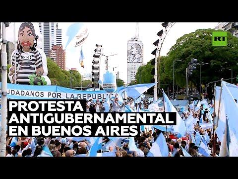 Nueva protesta contra el Gobierno argentino en Buenos Aires