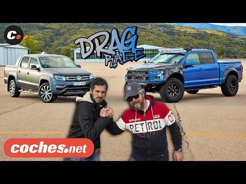 DRAG RACE Volkswagen Amarok vs Ford F-150 Raptor | coches.net