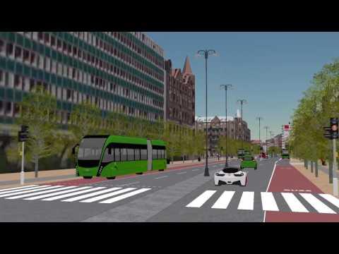 3D-visualisering av Drottningatan och Järnvägsgatan 2019