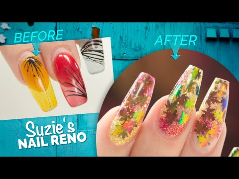 Can You Fill Gel Over Acrylic?🤔Fall Leaves Inlay