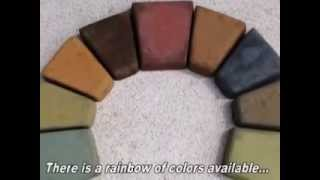 How To Color Bags Of Premix Concrete Cast Pavers Cement Tile And Bricks You
