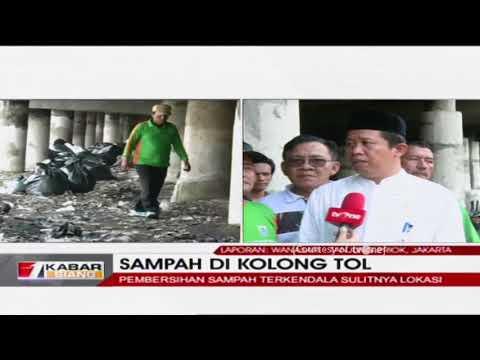MIRIS!! Begini Tumpukan Sampah di Kolong Tol Tanjung Priok