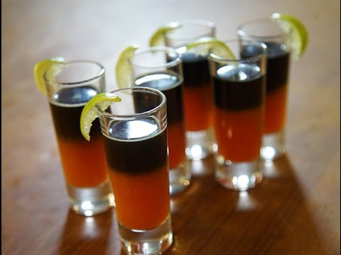 Bloody Mary Vodka Halloween Shots