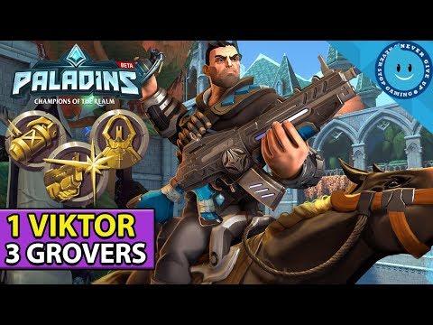 Viktor Paladins Battlegrounds Gameplay! 3 LEGENDARY CARDS = UNSTOPPABLE! (PTS ALPHA)