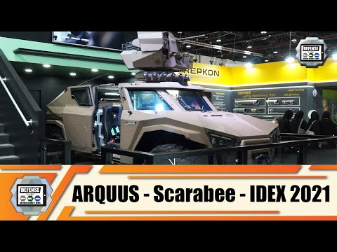 IDEX 2021 ARQUUS from France launches its Scarabee light reconnaissance armored for worldwide market