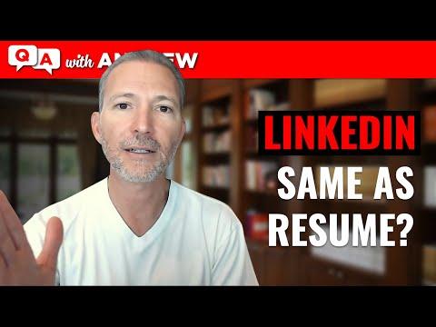 Should My LinkedIn Profile Match My Resume? photo