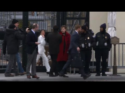 Alexandria Ocasio-Cortez arriving on Capitol Hill