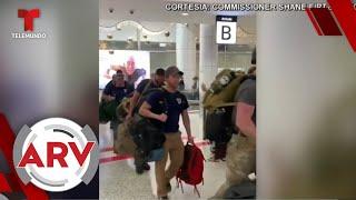 Australia recibe entre aplausos a bomberos estadounidenses   Al Rojo Vivo   Telemundo