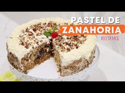 PASTEL DE ZANAHORIA con piña y nueces -hecho con pastel de cajita!
