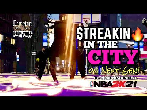 STREAKIN🔥🔥 IN THE CITY ON NBA 2K21 NEXT GEN 😈 XBOX SERIES X 🥶 PARK GAMEPLAY 💯